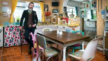 Musician Ger Eaton in his kitchen where everything is retro, even the tiles. The dapper Ger loves pre-loved clothes too. 'At the Electric Picnic, I was told I was the most stylish man there. I was wearing a suit I've had since I was 16,' he notes