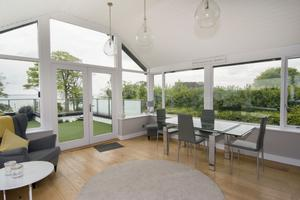 The sun room and deck