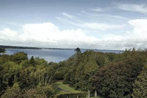 The view of Lough Ree from Portlick Castle.