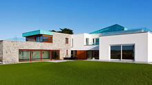The exterior of Longacres in Portrane, Co Dublin - it was the dream home of an architect