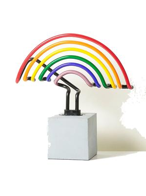 Rainbow, €66 Wear your pride on your… sign: the Rainbow Concrete Base Neon Sign, at oliverbonas.com