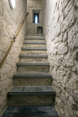 Just some of the 60 stone steps which lead from the bottom to the top of the castle