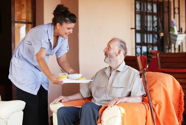 Caring for elderly father at in his own annex