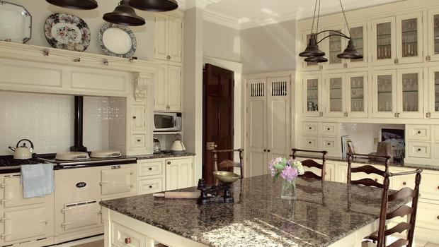 The french style kitchen at Bishop's Vale