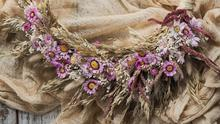 Everlasting love, €73: This handcrafted wreath would make a show-stopping artwork on a bare wall; botanicaltales.com