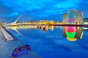 10. View of the River Liffey and docklands