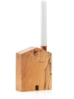 Wooden candleholder, €14 - Locally sourced timber is used to make quirky crafted pieces like this candleholder, Teach; samagusnessa.com