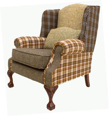 King wingback chair
