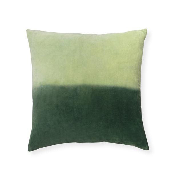 Velvet ombre cushion, €30. Cushions are a good place to start when introducing velvet surfaces to the home for the first time; oliverbonas.com