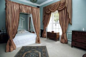Large double bedroom at Portlick Castle in Westmeath