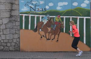 A sign for Naas Racecourse