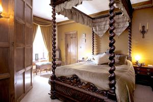 One of Glanmore Castle's four-poster beds