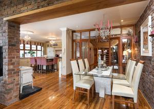 A casual dining area