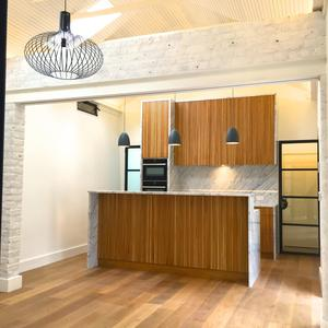 Internally, the living areas — the kitchen, living and dining rooms — benefit from the same traditional treatment but are smartly contemporary