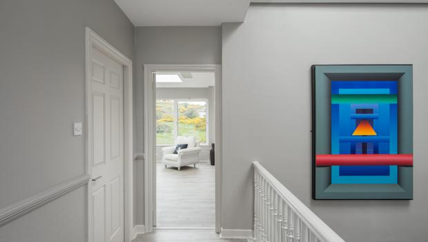 The upstairs hall of the Sandyford property