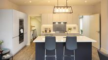 Contemporary fitted kitchen at Kingswood Mews
