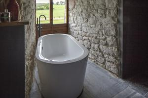 The free-standing bathtub overlooks the surrounding countryside - the castle has view over Kilkenny, Tipperary and Laois