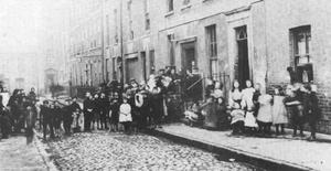 Families lived in tenement homes and often 100 might live in the one