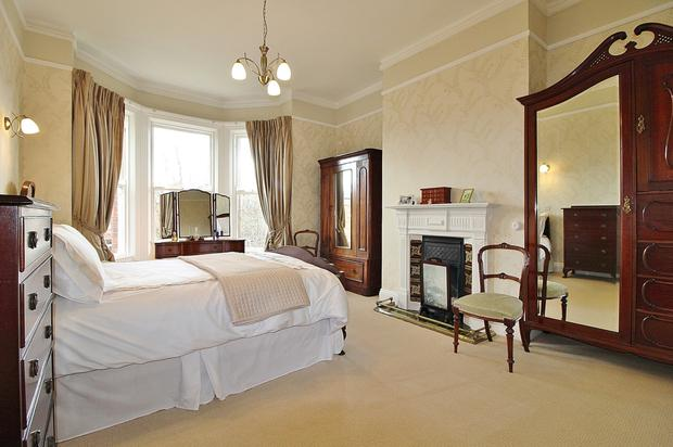 One of the five bedrooms