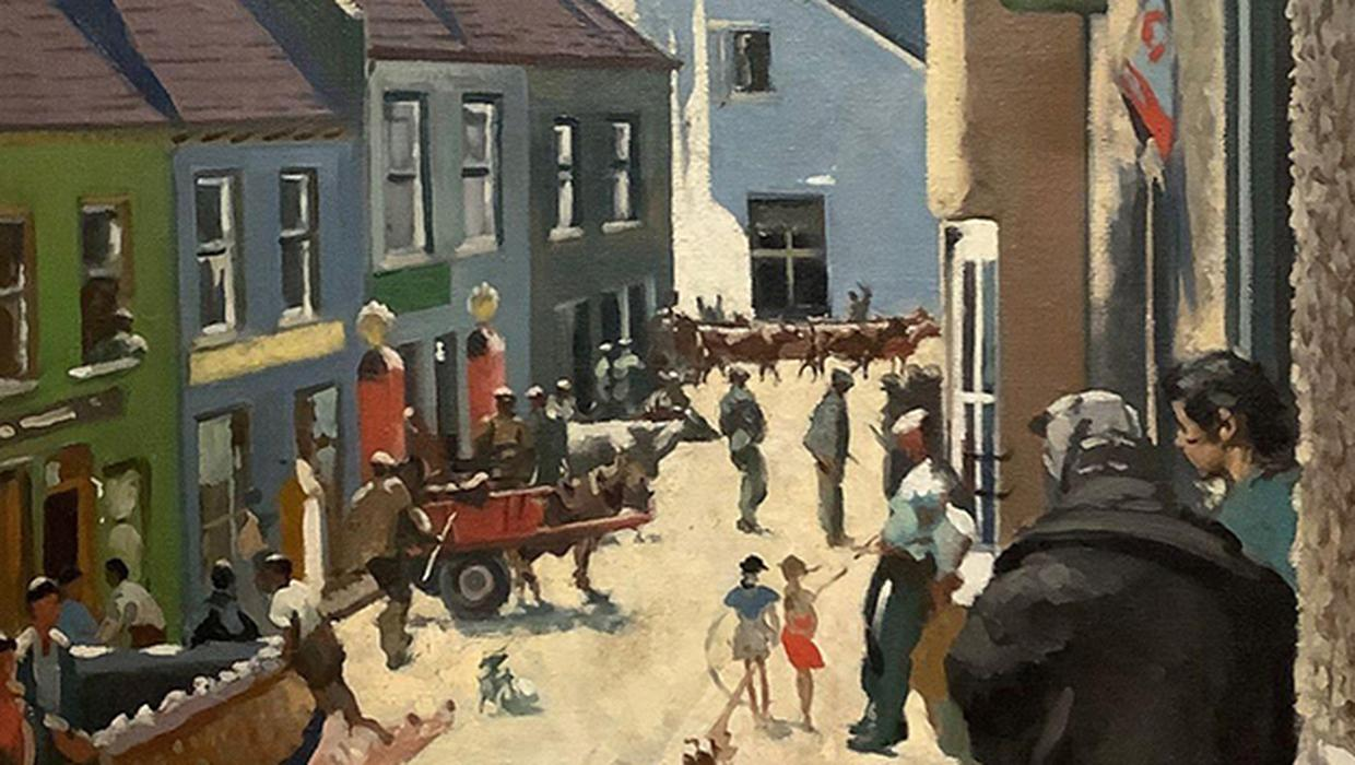 Streetscape from Dublin-born artist fetches €20,000 at auction