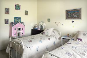 The children's bedroom is always ready for her grandchildren, Siena Maria, Lucia and Nicholas, who visit regularly