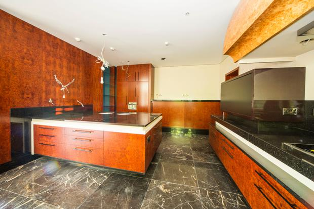 Ghislain Luthers advised on the bespoke finishes of granite, marble and burr walnut