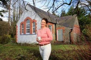 Architect Lisa Carolan outside the Victorian schoolhouse in Kingscourt that was 'a labour of love'. Throughout, she mixed the best of old and new. PIC - Frank McGrath