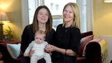 Tessa Lawlor with her daughter Annie and three-month-old grandson Sam