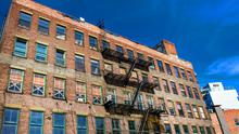 A disused building in New York: Rent controls caused districts of the city to become run down in the 1960s and 1970s