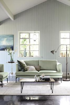 The new wave of delicate green hues are designed to create chilled-out spaces. So Simple Tom Simply Velvet sofa, €779 in Tranquil Dawn, DFS; dfs.ie