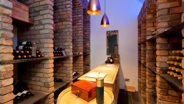 The temperature and moisture-controlled wine cellar