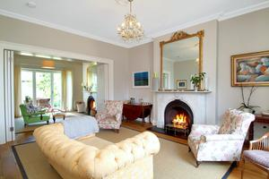 Twin reception rooms at 5 Ballygihen Ave, Sandycove