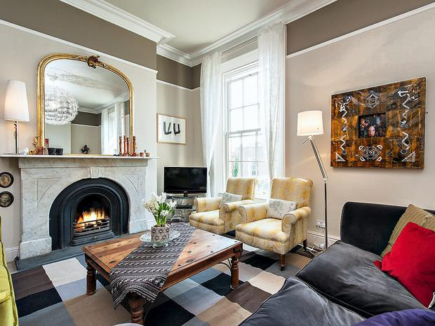 The sitting room in 5 Belleville Avenue
