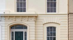 The finely-rendered frontage of No9 Trafalgar Terrace