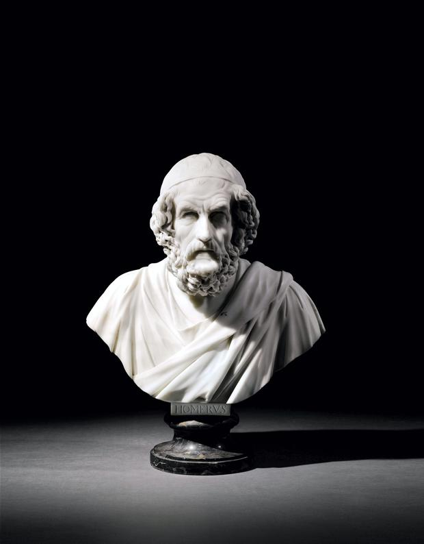 Bust of Homer dating from 1757