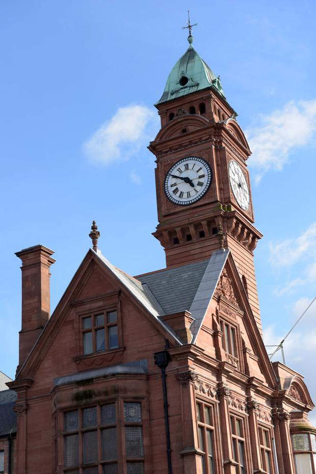 The clock tower of Rathmines College