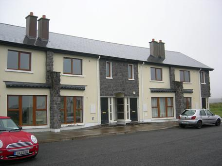 The terrace homes in Dun Carraig Ceibh are very reasonably priced