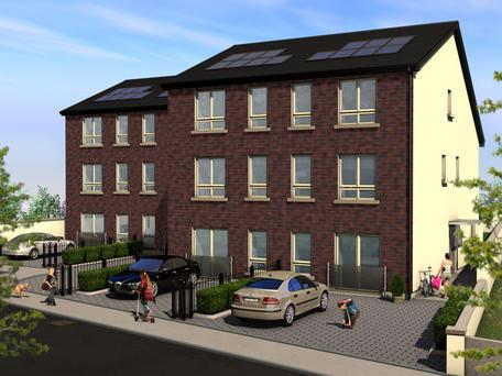 Mock up of homes in Colmcille's Mews