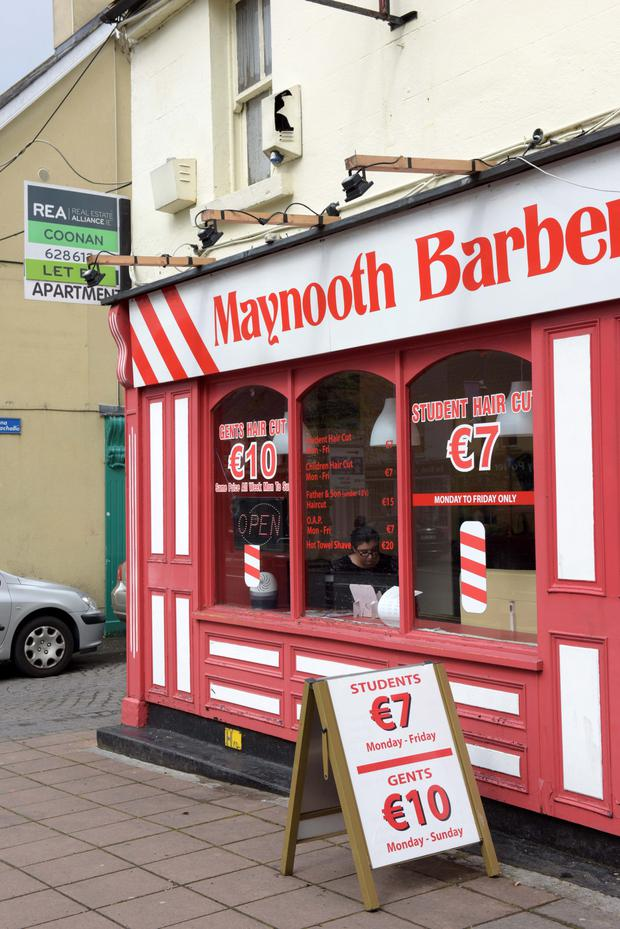 A colourful Maynooth barbers