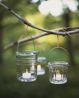 Tealights in jars