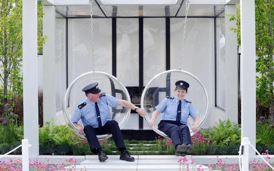 Bloom force: Garda Barry Heffernan and Garda Pauline Firth enjoying some fun at Bloom. Picture: Laura Hutton, Photocall Ireland