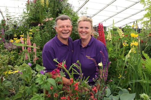 Paul and Orla Woods from the Kilmurray Nursery Wexford
