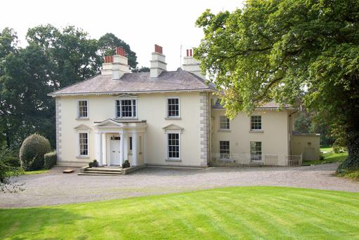 The exterior of Fassaroe House in Bray, Co. Wicklow