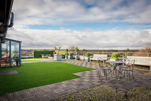 The roof garden of the penthouse at Bushy Park, Terenure, Dublin 6W.