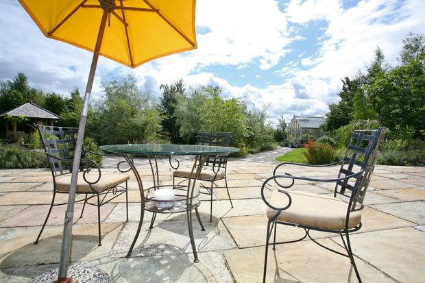 The Sun Patio overlooks the Verney Naylor designed gardens