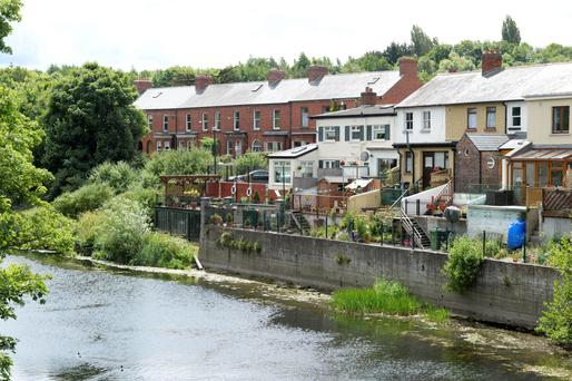 The River Liffey wends its way through Chapelizod. Photos: Bryan Meade