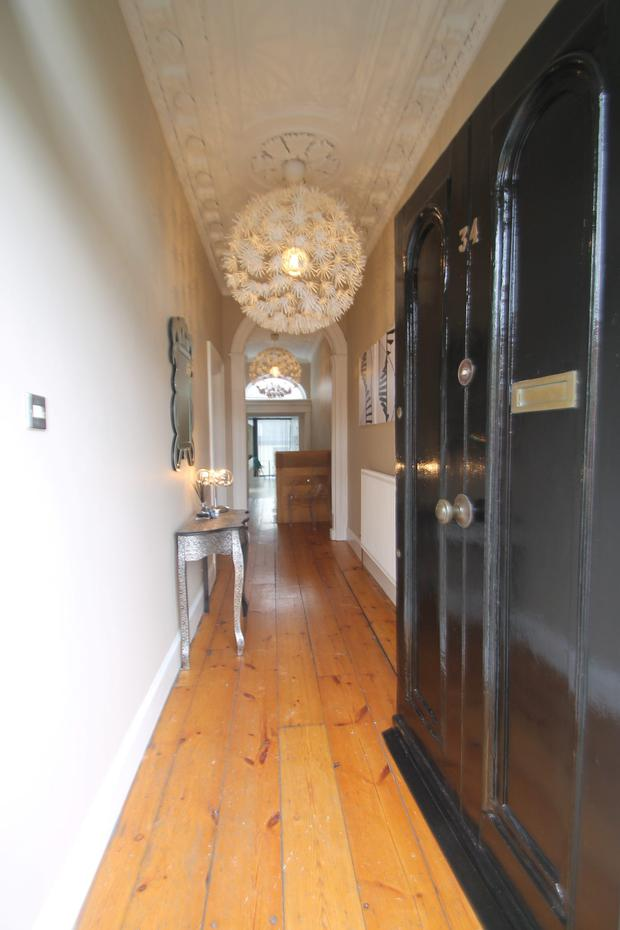 The hallway in Pleasants Street