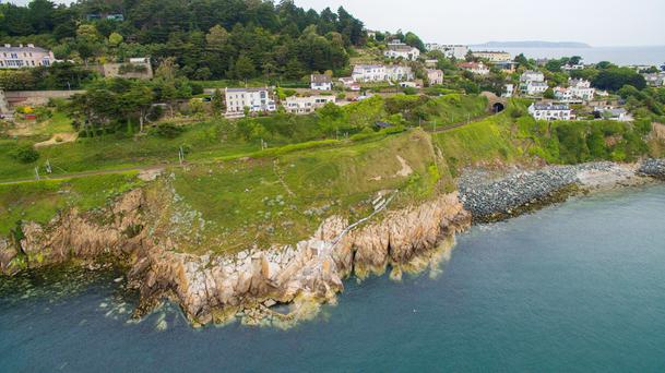 An aerial view of Hawk Cliff