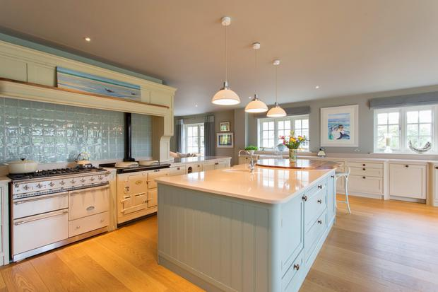 The open-plan kitchen at Shearwater