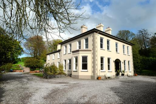 The imposing exterior of the Cork property